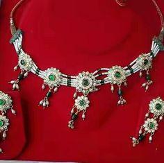 Rajputi jewellery necklace set ( chick set) by Kuldeep Singh Rajput Jewellery, Bridal Jewellery, Royal Jewelry, Indian Jewelry, Jewelry Necklaces, Bracelets, Necklace Set, My Design, Fashion Jewelry