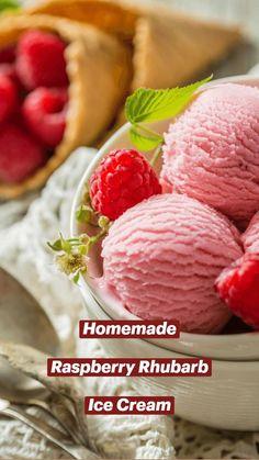Frozen Fruit, Frozen Treats, Summer Desserts, Summer Recipes, Raspberry Rhubarb, Sweet Like Candy, Ice Cream Party, Fruit Snacks, Food Processor Recipes