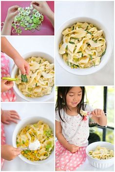 Cooking With Kids Series: get the kids cooking in the kitchen to make this light, easy and delicious pappardelle pasta with leeks and corn.