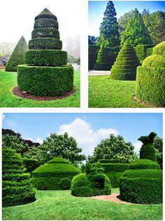 Grand Topiaries in Longwood Gardens in Pennsylvania!