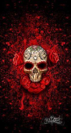 We at Digoil Renowned are an artist based company, proudly family owned and operated in the USA. Sugar Skull Art, Sugar Skulls, Day Of The Dead Skull, Skull Wallpaper, Candy Skulls, Skulls And Roses, Skull Tattoos, Art Tattoos, Skull Design