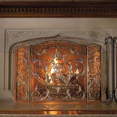 Avignon Standard Fireplace Screen for the master bedroom