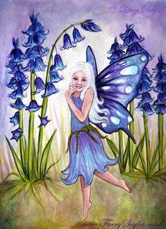 PRINT 5 x 7 Bluebell Faery fantasy fairy art by Faerysayles