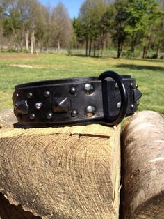 Custom Leather Dog Collar Sinister by Pleasant Pup by Dobergrrl, $100.00