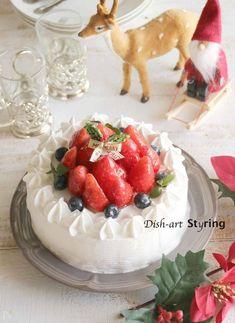 本格的☆基本のショートケーキ by keiko akiyama | レシピサイト「Nadia | ナディア」プロの料理を無料で検索 Keiko, Panna Cotta, Dishes, Cake, Ethnic Recipes, Desserts, Christmas, Food, Pie Cake