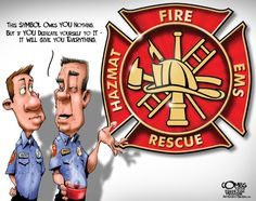 Illustration and Cartoons by Paul Combs Firefighter Apparel, Firefighter Humor, Volunteer Firefighter, Firefighters, Firefighter Pictures, Firemen, Fire Dept, Fire Department, Fire Training