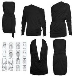 Let me introduce you: de Supertrash Thousandways multi-dress! Vestido Convertible, Convertible Clothing, Hipster Fashion, Diy Fashion, Fashion Tips, Diy Clothing, Sewing Clothes, Travel Clothing, Multi Way Dress