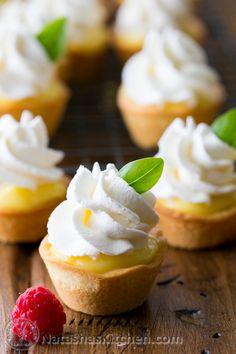 Tartlets with Lemon Curd and Whipped Cream (Korzinki)   Natasha's Kitchen