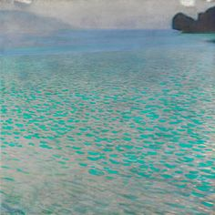 Gustav Klimt - Attersee, 1900, oil on canvas