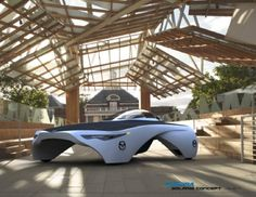 The winning entry in the Aurora Survivor 2050 competition announced by Mazda and the Aurora Solar Vehicle Association is this design by Ali Jafari. The solar assisted electric Solaris has both an approachable and futuristic aesthetic. Both super efficient and quick, it has a top speed of 150 km/hr and room for a single passenger. You might just catch it at the 2013 World Solar Challenge.