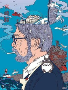 SosuChan — Hayao Miyazaki Art from Début Art Hayao Miyazaki, Studio Ghibli Films, Art Studio Ghibli, Studio Ghibli Quotes, Studio Ghibli Poster, Personajes Studio Ghibli, Japon Illustration, My Neighbor Totoro, Howls Moving Castle