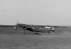 Messerschmitt Bf 109G-14 W.Nr.463141 ,black 17 of 2./NAGr 14, lands for surrendering ,Fürth, 8 May 1945.