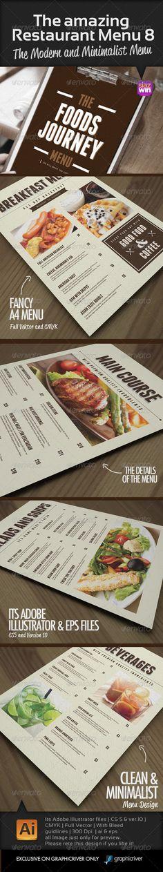 The Amazing Restaurant Menu Template #design #speisekarte Download: http://graphicriver.net/item/the-amazing-restaurant-menu-8/7542678?ref=ksioks