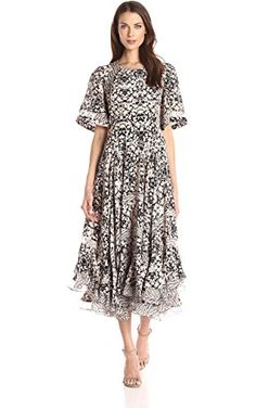 Rebecca Taylor Women s Short Sleeve Print Mix Dress 1aa9c30f6