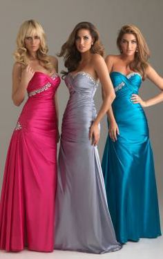 Floor Length Elastic Satin A-line Strapless Sweetheart Prom Dress