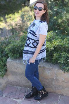 Camiseta Zara, Chaleco Festa Moda, Pantalones Pull and Bear, Botines Kiabi