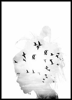 Girl Silhouette plakat i gruppen Plakater / Størrelser / 70x100cm hos Desenio AB (8668)