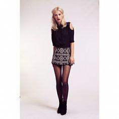 Fusta Aztec Aztec, Skater Skirt, Mini Skirts, Fashion, Moda, Fashion Styles, Skater Skirts, Mini Skirt, Fashion Illustrations
