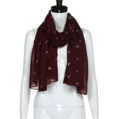 180 70cm women hot deer head animal print women s shawl pashmina stole scarf  scarves bandana winter scarf accessories femme 6697954d4b9