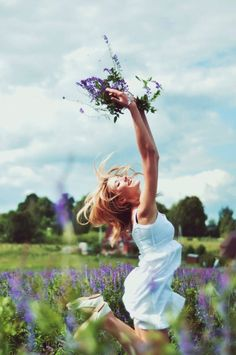 frolic in fields of flowers.