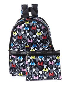 da0ce3b073a Look at this Minnie Mouse Rocks the Dot Backpack  amp  Pouch on  zulily  today. Disney ...
