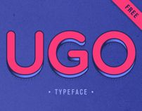 UGO is a free font design with different combinations.  Playing with layers and colors!