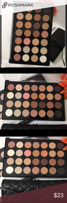 Bh 28pan neutral palette brand new w/ free bru Authentic brand new in box 28 Pan neutral set ! Amazing pigment ! One of my top ten brands ! Creamy pigmented shadows for a great value price ! Great for new Mua kit ! Bh cosmetics Makeup Eyeshadow