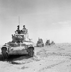 On November the day before the battle at Bir el Gubi, British Matilda tanks roll forward during the opening phase of Operation Crusader. The British armor spearheaded an effort to reach the Australian garrison besieged at the Libyan port of Tobruk. Matilda, Afrika Corps, Tank Warfare, North African Campaign, British Armed Forces, Military Armor, Ww2 Tanks, British Army, British Tanks