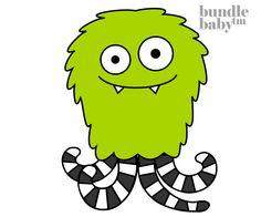 Furry Squid Monster - Nursery Art / Decor!!!!
