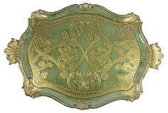 Green Florentine Handled Tray on OneKingsLane.com