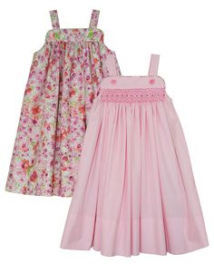 HAVE Katina is a classic, full skirted sundress. It is designed to be smocked or gathered (unsmocked). Katina comes sizes 1-8 in one package. Difficulty: Gathered version ** Moderate; Smocked version **** Expert