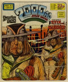 A cover gallery for the comic book Judge Dredd - 2000 AD Comic Book Covers, Comic Books Art, Comic Art, 2000ad Comic, Star Wars Crafts, Ghost And Ghouls, Judge Dredd, Manga Pages, Comic Strips