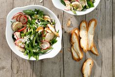Weisswurstsalat mit grünen Bohnen Caprese Salad, Salads, Tacos, Mexican, Meat, Ethnic Recipes, Food, Tv, Food And Drinks