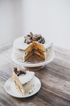 pumpkin layer cake with cream cheese frosting: Yummy Treats, Sweet Treats, Cheese Day, Pumpkin Cream Cheeses, Pie Cake, Cake With Cream Cheese, Fall Desserts, Let Them Eat Cake, How To Make Cake