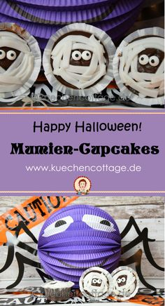 Gruselige Mumien-Cupcakes | Küchencottage  http://kuechencottage.de/mumien-cupcakes/  Das Rezept für die gruseligen Mumien-Cupcakes findest du auf kuechencottage.de  #halloween #backen #foodporn #rezeptideen #partyfood #mitbringsel #backideen #rezepte #mumien #muffins #cupcakes #foodporn #foodie #foodblog #köstlichkeiten #schoko #halloween2016