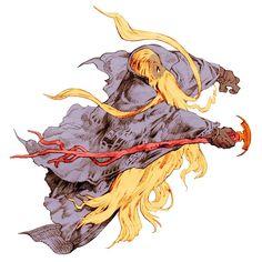 Week 16 - Final Fantasy Tactics - Concept Art Sun - Ramuh Summon