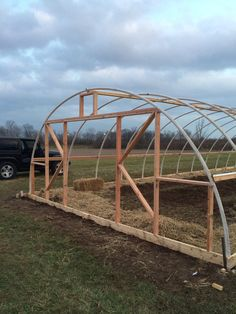 can't wait to put the skin on and start growing at the end of february! Diy Greenhouse Plans, Walk In Greenhouse, Backyard Greenhouse, Sacred Garden, Cold Frame, Vegetable Garden Design, Garden Structures, Farm Gardens, Aquaponics