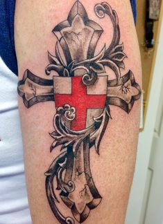Tattoos are an integral part of society, with many people sporting one or more tattoos on their body, it is certain that these tattoos can be significant for many people and cultures from around th… Masonic Tattoos, Celtic Cross Tattoos, Cross Tattoo For Men, Cross Tattoo Designs, Body Art Tattoos, Print Tattoos, Sleeve Tattoos, Cool Tattoos, Tribal Tattoos