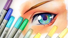 Drawing an Eye【Copic Markers and Pencils】 - YouTube