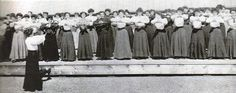 """""""To herald the new style came the """"shirtwaist"""". It became the uniform of working women everywhere: a relatively plain skirt with a leg-o-mutton blouse that had a standing band collar and buttons up the back. A simple petticoat was all that was needed—except for the dratted corset, of course."""" - from author Nancy Moser's blog. Her new novel """"An Unlikely Suitor"""" is set around an 1890s dressmaking shop."""