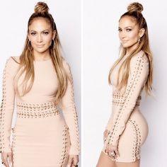J.Lo's HALF UP TOP KNOT
