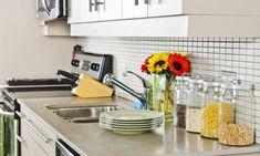 Our 8 Favorite Kitchen Countertop Materials - SoapStone Small Kitchen Organization, Kitchen Storage, Organization Ideas, Storage Ideas, Storage Solutions, Organizing Tools, Organized Kitchen, Jar Storage, Kitchen Countertop Materials