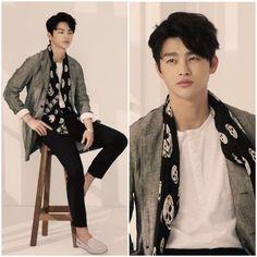 Seo In Guk --- That scarf looks familiar.  I think I saw it in a drama.