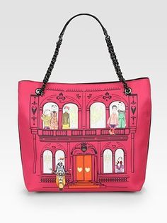 6dcb486a14de7 Love Moschino Printed Satin Tote - ShopStyle. Printed BagsShopper ...