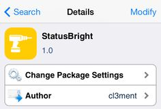 StatusBright: swipe on the status bar to adjust the iPhone screen brightness
