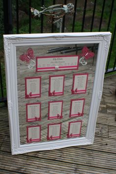 MIrror Table Plan, Butterfly themed www.facebook.com/thatspecialdaystationery