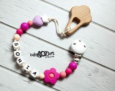 Pacifier Clip  Personalized pacifier clip   teething