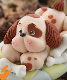 Paso a paso: Modelar un perro con fondant - Paperblog
