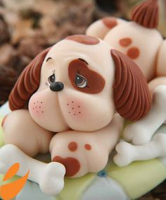 How to make a fondant dog