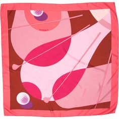 Pre-owned Hermes Swing II Silk Scarf ($225) ❤ liked on Polyvore featuring accessories, scarves, pink, hermès, pink scarves, hermes shawl, pink shawl and pink silk scarves